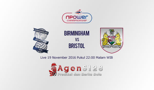 Prediksi Skor Birmingham City vs Bristol City 19 Nov 2016
