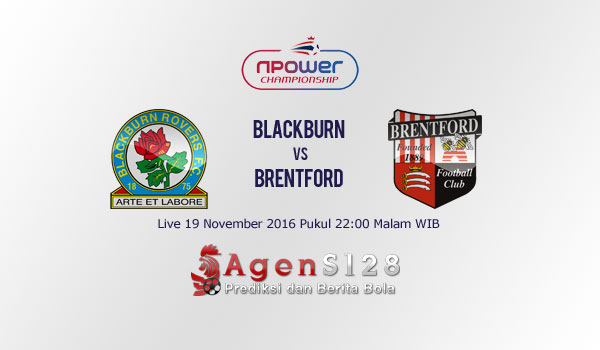 Prediksi Skor Blackburn Rovers vs Brentford 19 Nov 2016