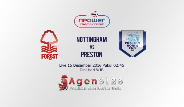 Prediksi Skor Nottingham Forest vs Preston 15 Des 2016