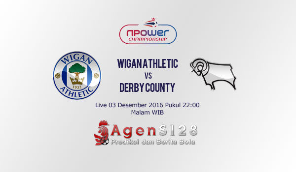 Prediksi Skor Wigan Athletic vs Derby County 03 Des 2016